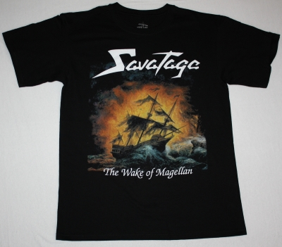 SAVATAGE THE WAKE OF MAGELLAN'97 NEW BLACK T-SHIRT
