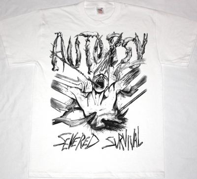 AUTOPSY SEVERED SURVIVAL'89  NEW WHITE T-SHIRT