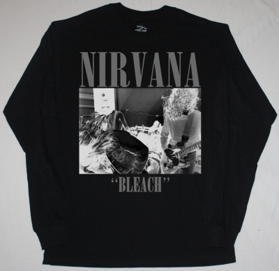NIRVANA BLEACH'89  NEW BLACK LONG SLEEVE T-SHIRT