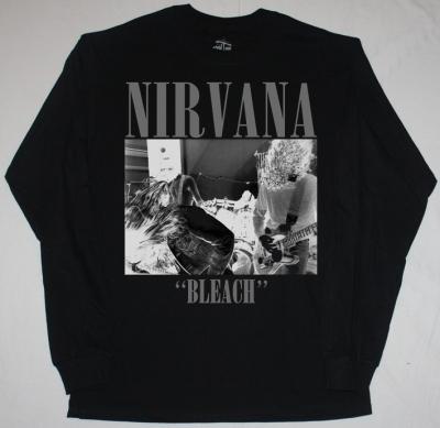 NIRVANA BLEACH'89  NEW BLACK LONG SLEEVE T-SHIRT