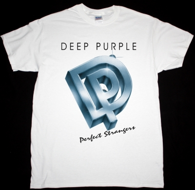 DEEP PURPLE PERFECT STRANGERS 1984 NEW WHITE T-SHIRT