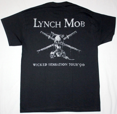 LYNCH MOB WICKED SENSATION '90  NEW BLACK T-SHIRT