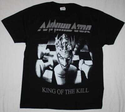 ANNIHILATOR KING OF THE KILL'94 NEW BLACK T-SHIRT