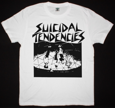 SUICIDAL TENDENCIES 1983 NEW WHITE T-SHIRT