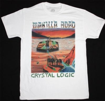 MANILLA ROAD CRYSTAL LOGIC NEW WHITE T-SHIRT