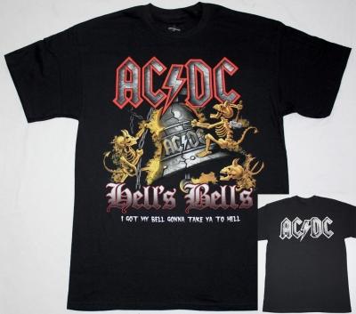 AC DC HELL'S BELLS AC/DC NEW BLACK T-SHIRT