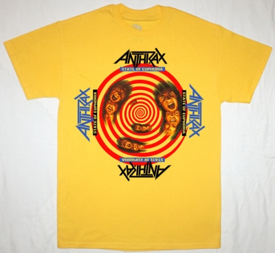 ANTHRAX STATE OF EUPHORIA'88 NEW YELLOW T-SHIRT