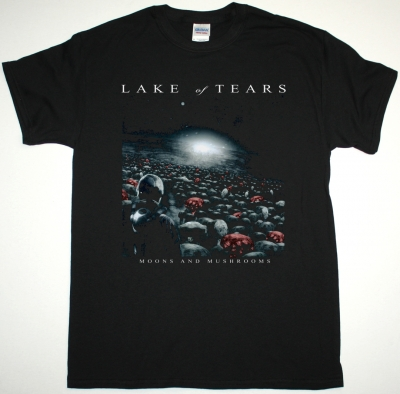 LAKE OF TEARS MOONS AND MUSHROOMS NEW BLACK T-SHIRT