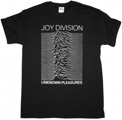 JOY DIVISION UNKNOWN PLEASURES '79 NEW BLACK T-SHIRT
