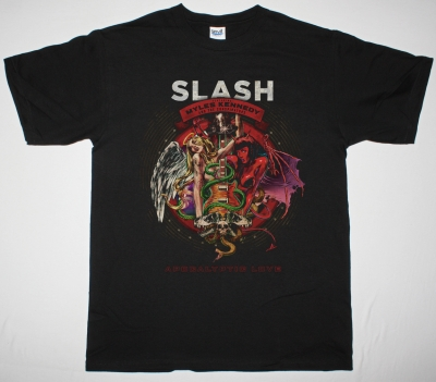 SLASH FEAT. MYLES KENNEDY AND THE CONSPIRATORS APOCALYPTIC LOVE NEW BLACK T-SHIRT