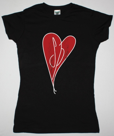 SMASHING PUMPKINS HEART DISTRESSED LOGO NEW BLACK LADY T-SHIRT