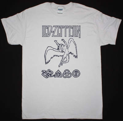 LED ZEPPELIN SWAN LOGOSHIRT DISTRESSED NEW ICE GREY T-SHIRT