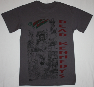DEAD KENNEDYS BEDTIME FOR DEMOCRACY'86  NEW GREY CHARCOAL T-SHIRT