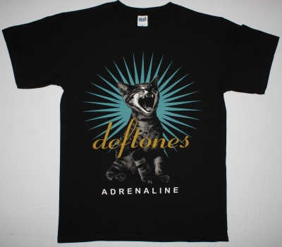DEFTONES ADRENALINE 95 NEW BLACK T-SHIRT