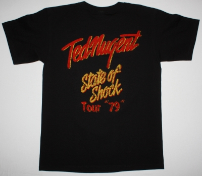 TED NUGENT STATE OF SHOCK 79 NEW BLACK T-SHIRT