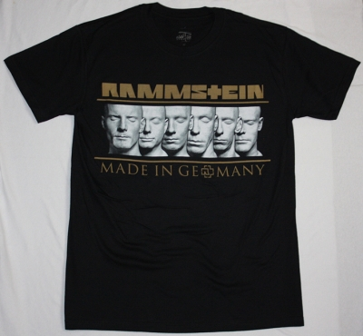 RAMMSTEIN MADE IN GERMANY TOUR EUROPE 2013 NEW BLACK T-SHIRT