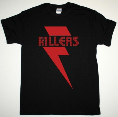 THE KILLERS RED BOLT NEW BLACK T SHIRT