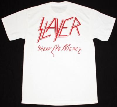 SLAYER SHOW NO MERCY'83 NEW WHITE T-SHIRT