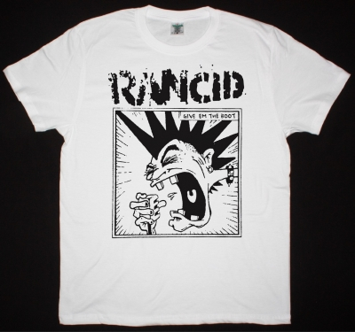 RANCID MOHAWK NEW WHITE T-SHIRT