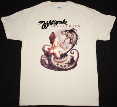 WHITESNAKE LOVEHUNTER 1979 NEW NATURAL COLOR T-SHIRT