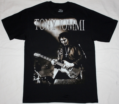 TONY IOMMI ON STAGE NEW BLACK T-SHIRT