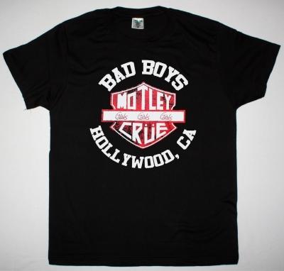 MOTLEY CRUE BAD BOYS NEW BLACK T-SHIRT