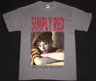 SIMPLY RED PICTURE BOOK 85 NEW GREY CHARCOAL T-SHIRT