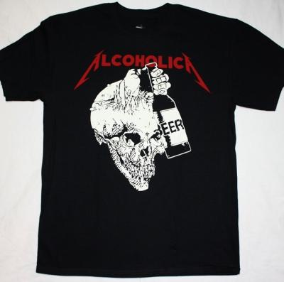 METALLICA ALCOHOLICA 2 NEW BLACK T-SHIRT