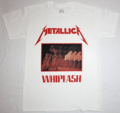 METALLICA WHIPLASH'83 NEW WHITE T-SHIRT