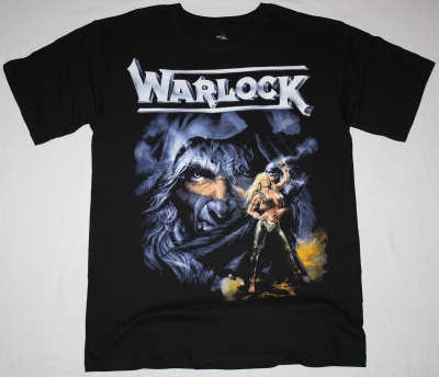 WARLOCK TRIUMPH AND AGONY 87  NEW BLACK T-SHIRT