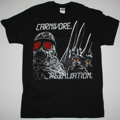 CARNIVORE RETALIATION NEW BLACK T-SHIRT