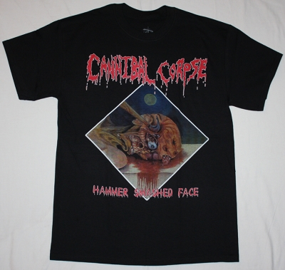 CANNIBAL CORPSE 1993 HAMMER SMASHED FACE NEW BLACK T-SHIRT