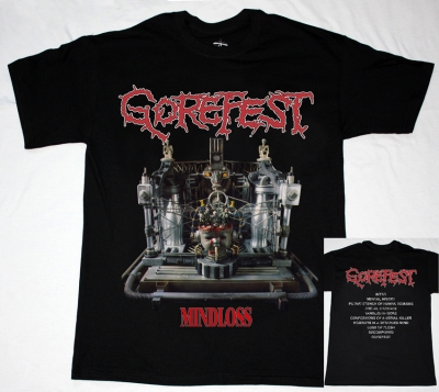 GOREFEST MINDLOSS'91 NEW BLACK T-SHIRT