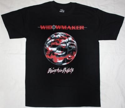 WIDOWMAKER BLOOD AND BULLETS'92  NEW BLACK T-SHIRT