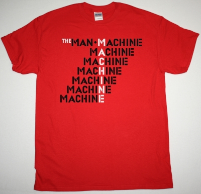 KRAFTWERK THE MAN-MACHINE 1978 NEW RED T-SHIRT