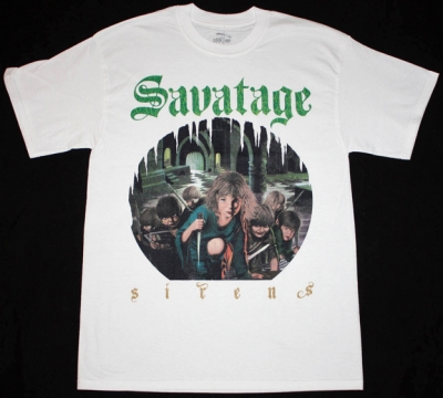 SAVATAGE SIRENS'83 NEW WHITE T-SHIRT
