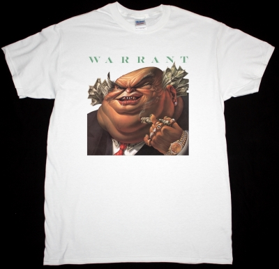 WARRANT DIRTY ROTTEN FILTHY STINKING RICH 1989 NEW WHITE T-SHIRT