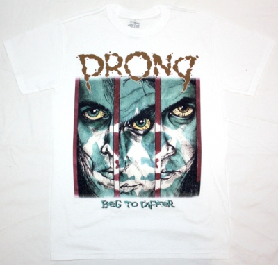 PRONG BEG TO DIFFER'90 NEW WHITE T-SHIRT