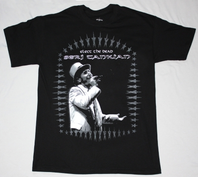 SERJ TANKIAN ELECT THE DEAD '07 NEW BLACK T-SHIRT