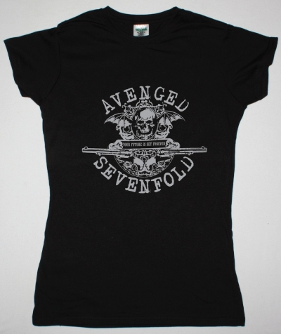 AVENGED SEVENFOLD YOUR FUTURE IS SET FOREVER NEW BLACK LADY T-SHIRT