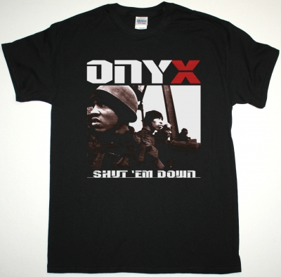 ONYX SHUT'EM DOWN  NEW BLACK T-SHIRT