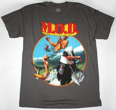M.O.D. SURFIN' M.O.D.88 NEW GREY T-SHIRT
