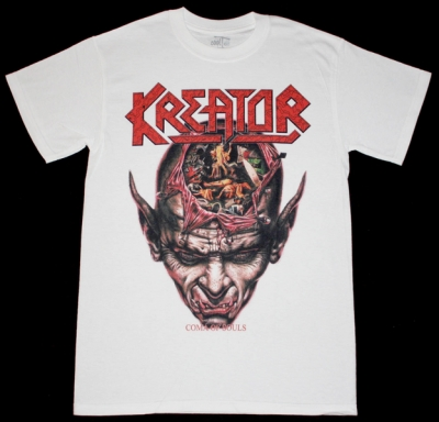 KREATOR COMA OF SOULS'90 NEW WHITE T-SHIRT