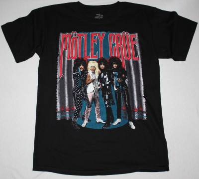 MOTLEY CRUE THEATRE OF PAIN TOUR NEW BLACK T-SHIRT
