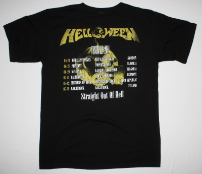 HELLOWEEN STRAIGHT OUT OF HELL  NEW BLACK T-SHIRT