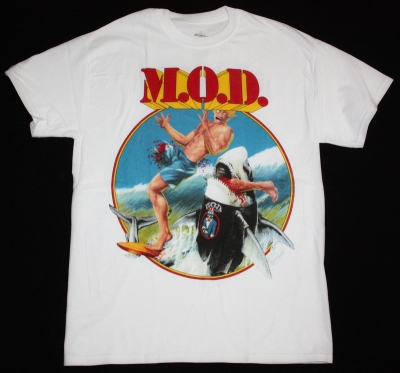 M.O.D. SURFIN' M.O.D.88 NEW WHITE T-SHIRT