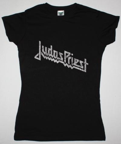 JUDAS PRIEST VINTAGE LOGO NEW BLACK LADY T-SHIRT