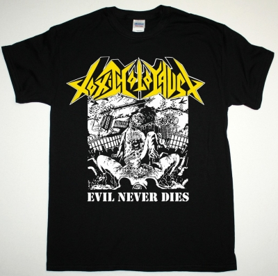 TOXIC HOLOCAUST EVIL NEVER DIES NEW BLACK T SHIRT