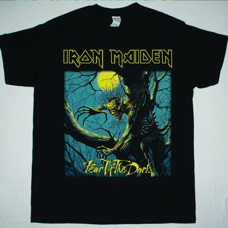 IRON MAIDEN FEAR OF THE DARK 1992 NEW BLACK T-SHIRT
