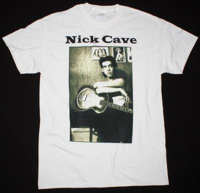 NICK CAVE PHOTO NEW WHITE T-SHIRT